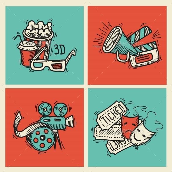 Cinema Icons Set - Icons