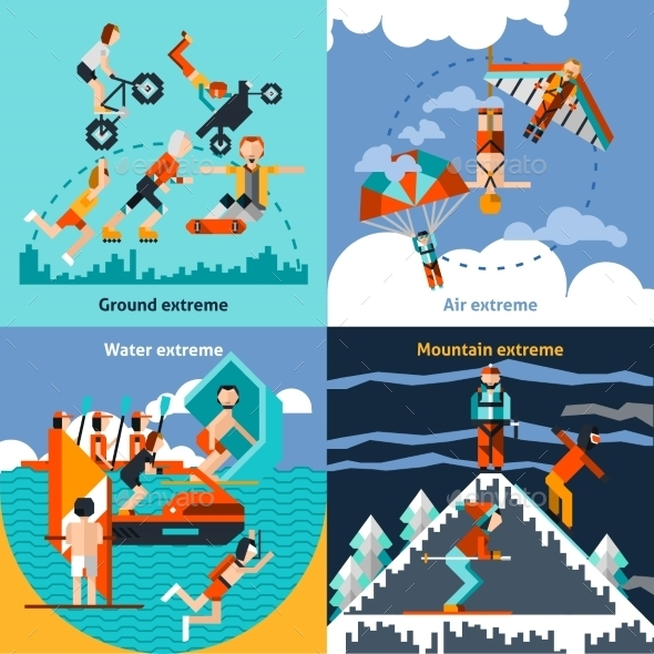 Extreme Sports Set - Sports/Activity Conceptual
