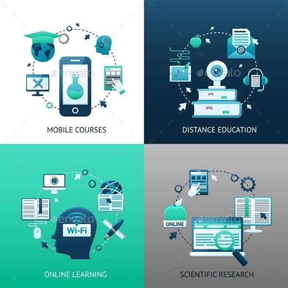 Online Education Design Concept - Technology Conceptual