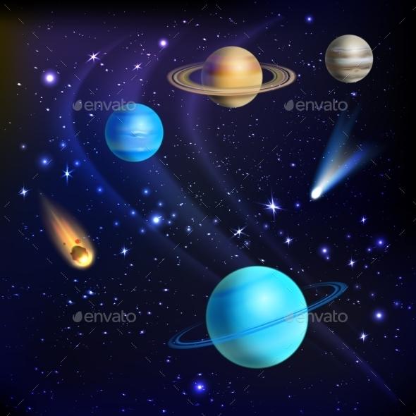 Space Background Illustration - Backgrounds Decorative