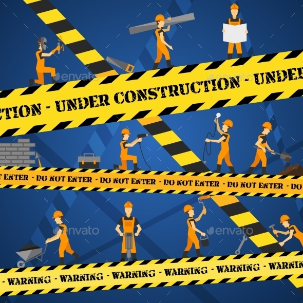 Under Construction Poster - Backgrounds Decorative