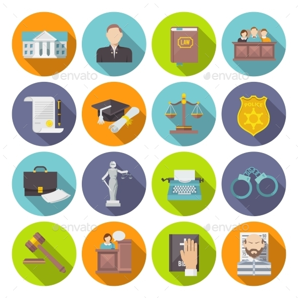 Law Icon Flat - Miscellaneous Vectors