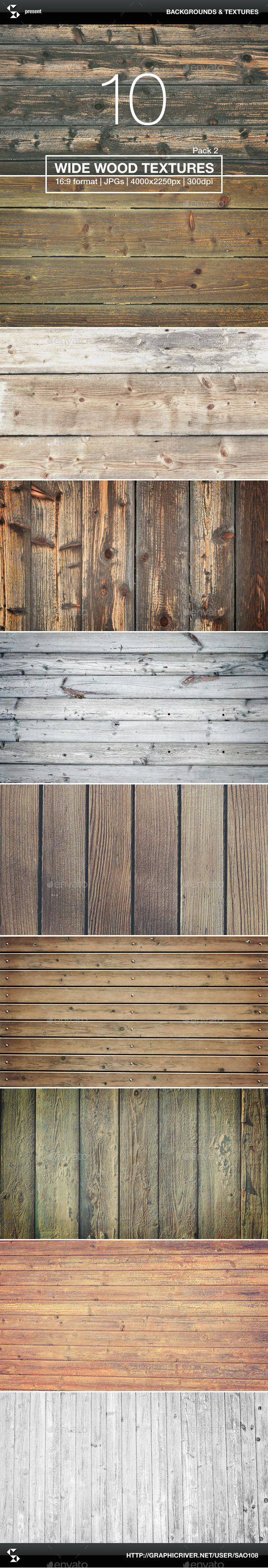 10 Wide Wood Textures 2 - Wood Backgrounds - Wood Textures