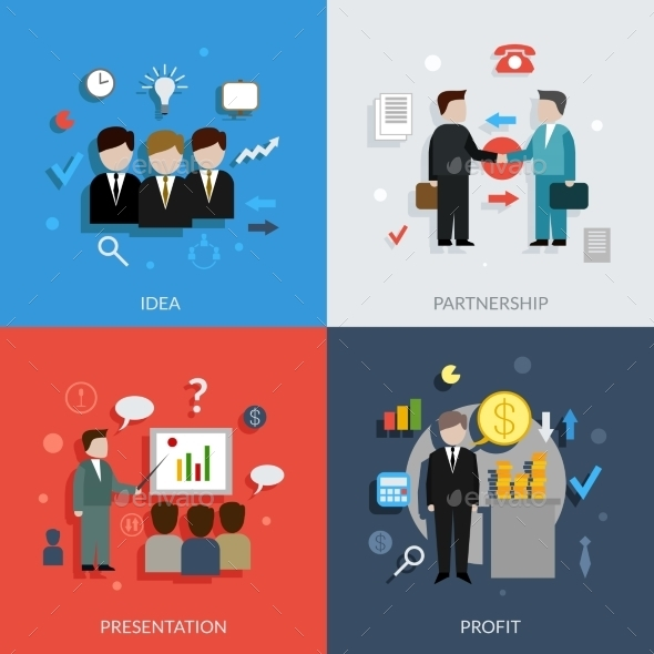 Business People Set - Business Conceptual