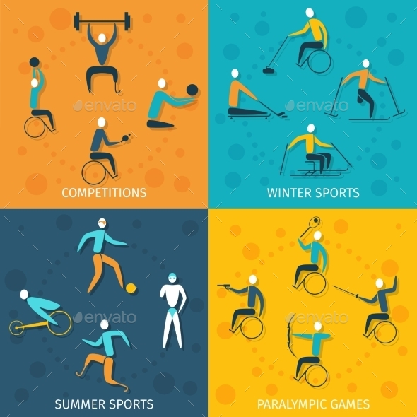 Disabled Sports Set - Sports/Activity Conceptual