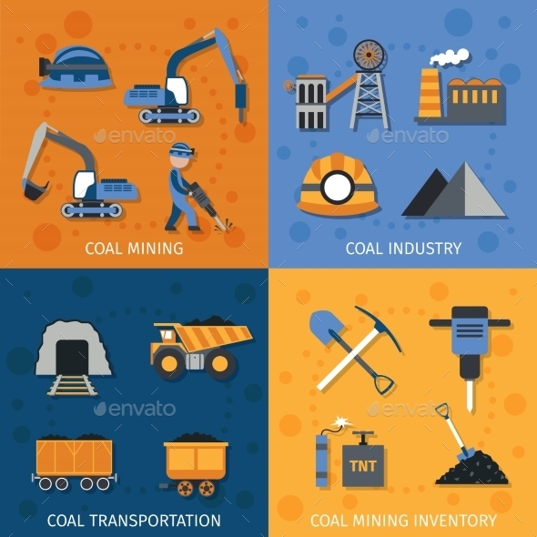 Coal Industry Set - Industries Business