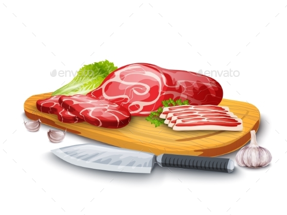 Meat On Board - Food Objects
