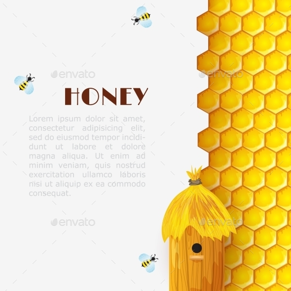 Honey Beehive Background - Food Objects