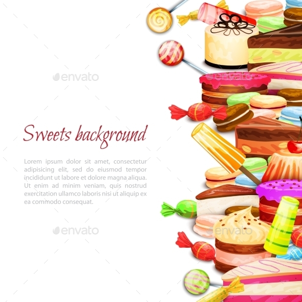 Sweet Food Background - Food Objects