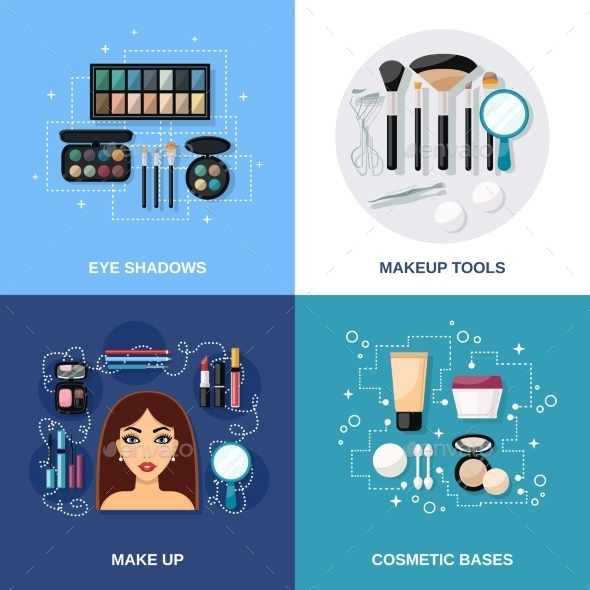 Makeup Flat Set - Miscellaneous Vectors