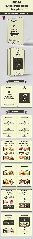 BiFold Restaurant Menu Vol. 4 - Food Menus Print Templates