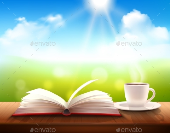 Coffee And Book - Backgrounds Decorative