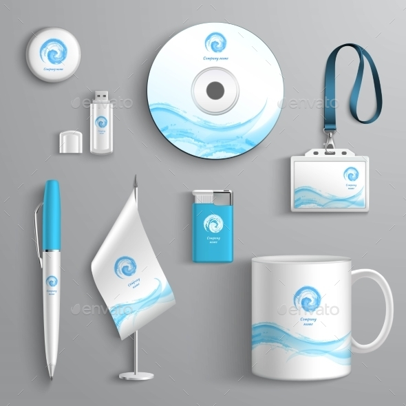 Corporate Identity Design - Objects Vectors