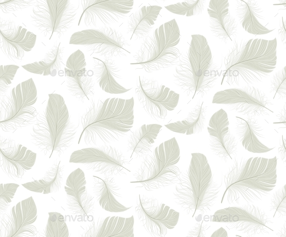 Feather Seamless Pattern - Backgrounds Business