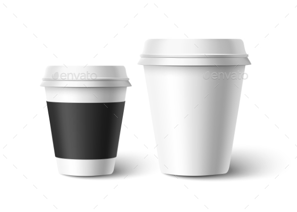 Cups of Coffee. Vector - Food Objects