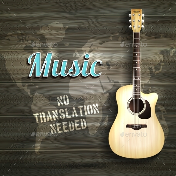 Guitar Wooden Background - Backgrounds Decorative