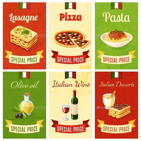 Italian Food Mini Poster - Food Objects