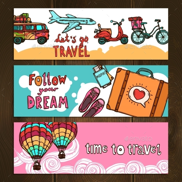 Travel Banners Set - Travel Conceptual