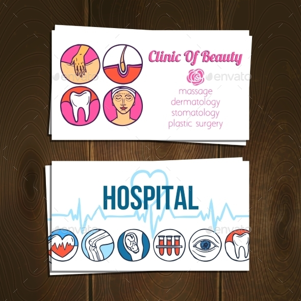 Medical Cards Set - Health/Medicine Conceptual