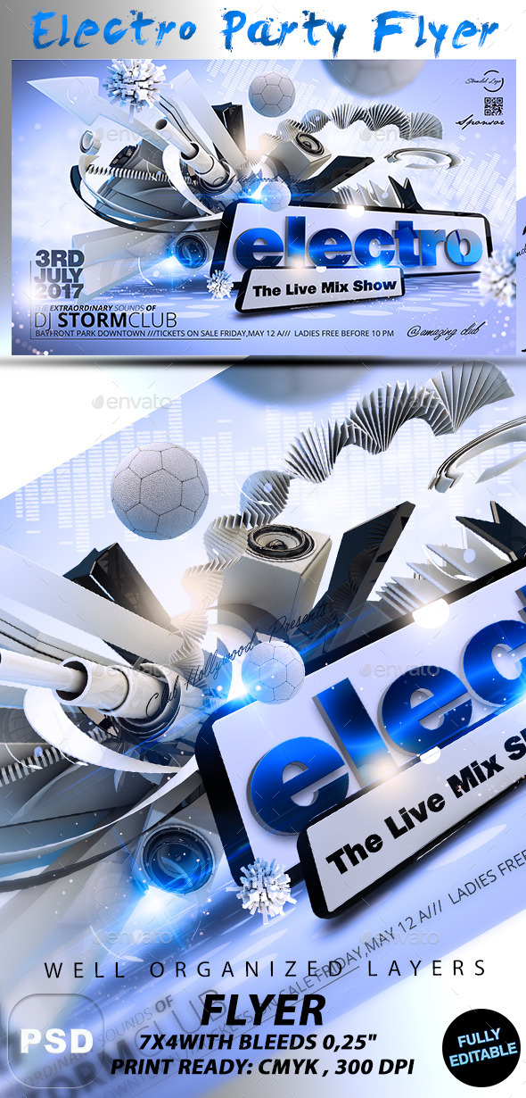 Electro Party Flyer - Events Flyers