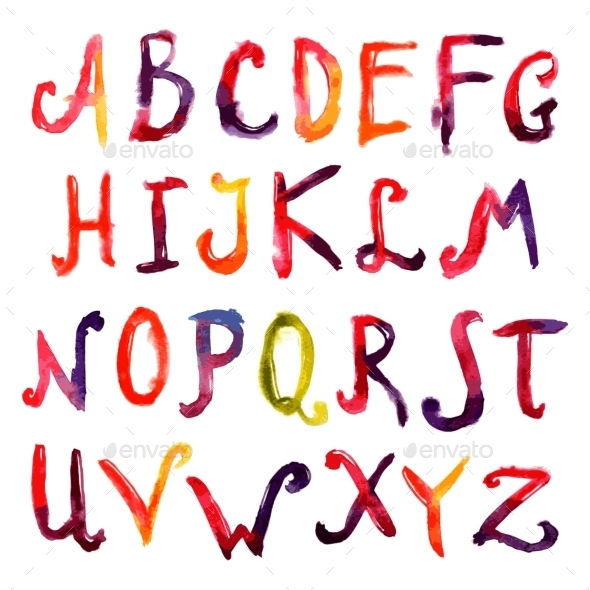 Hand Drawn Alphabet - Miscellaneous Vectors