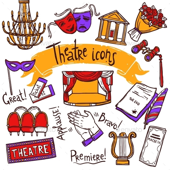 Theater Icons Set - Miscellaneous Vectors