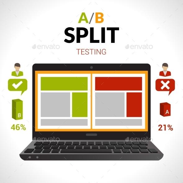 Split Testing Concept - Computers Technology