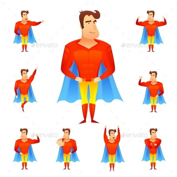 Superhero Avatar Set - People Characters