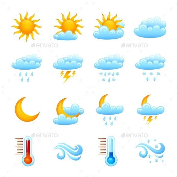 Weather Icon Set - Nature Conceptual