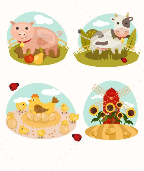 Animals on the Farm - Animals Characters