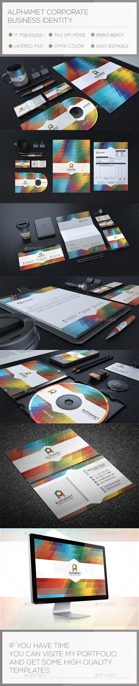 Alphamet Corporate Stationary Identity - Stationery Print Templates
