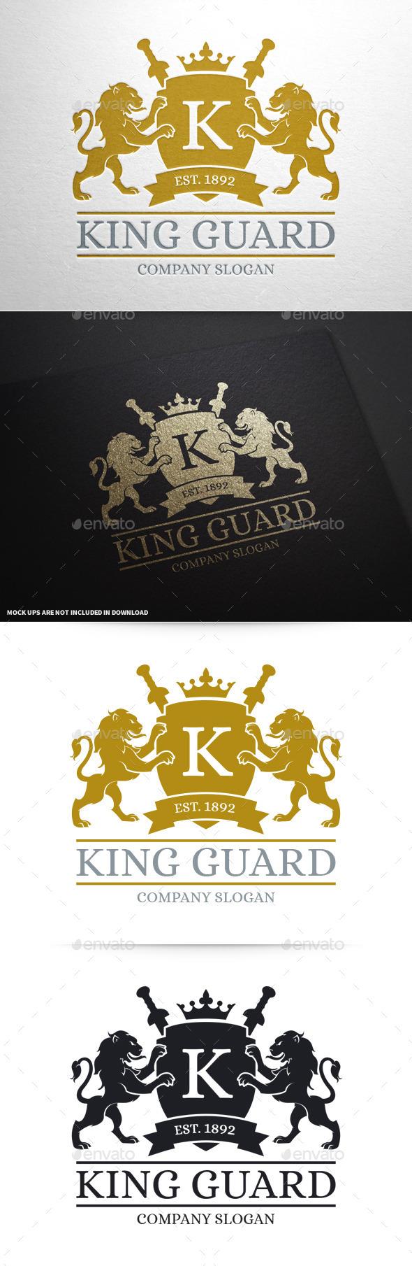 King Guard Logo Template - Crests Logo Templates