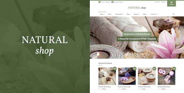 Natural Shop – Responsive eCommerce HTML Template