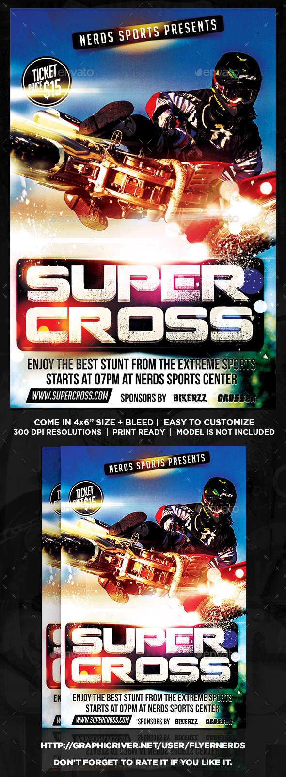 SuperCross Championships Sports Flyer - Sports Events