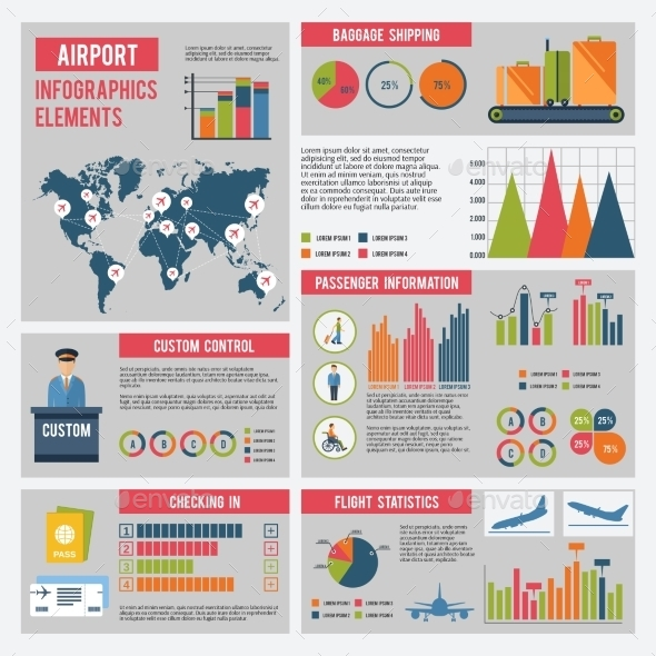 Airport Infographics Set - Infographics