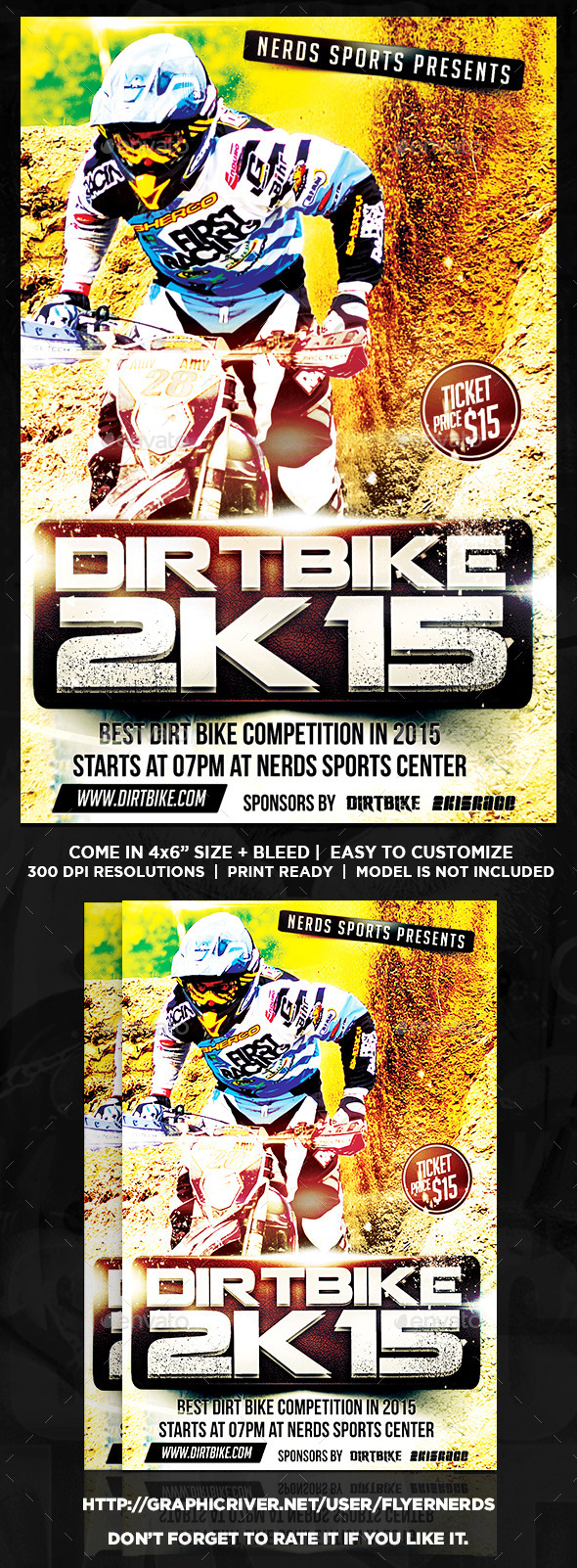 Dirt Bike Championships Sports Flyer - Sports Events