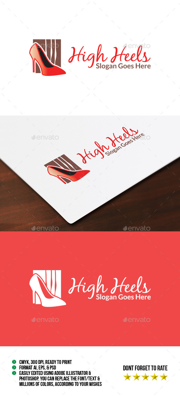 High Heels Logo - Objects Logo Templates