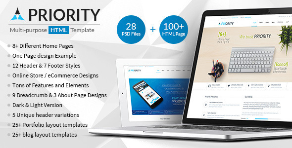 Priority | Multipurpose HTML5 Template - Corporate Site Templates