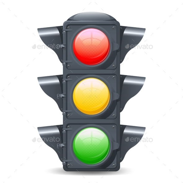 Traffic Lights Realistic - Man-made Objects Objects