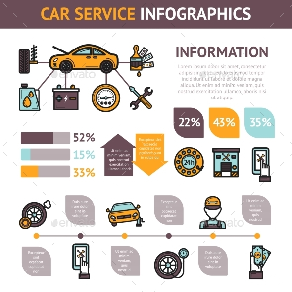 Car Service Infographics - Business Conceptual
