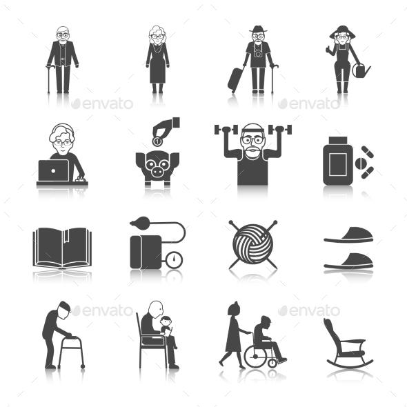 Senior Lifestyle Set - People Characters