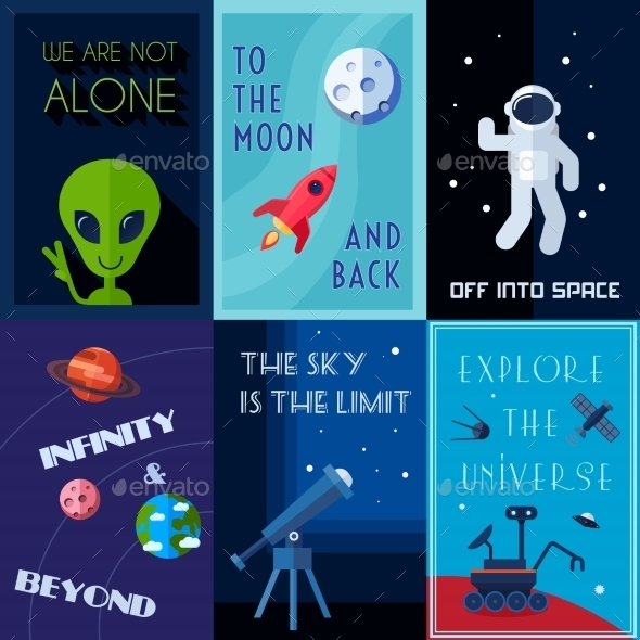 Space Poster Set - Technology Conceptual
