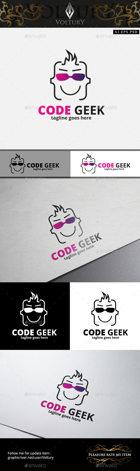 Code Geek Logo - Humans Logo Templates