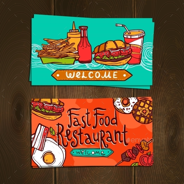 Fast Food Cards - Food Objects