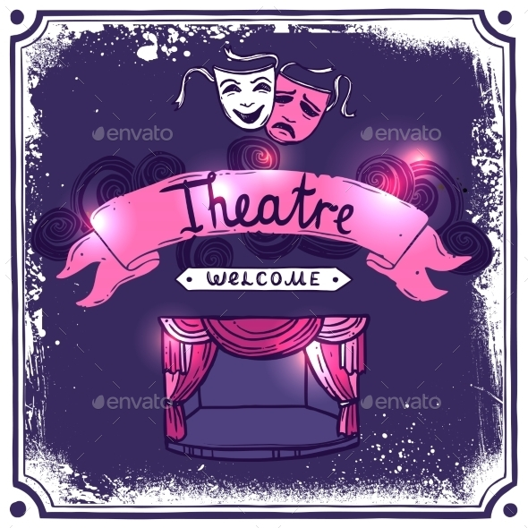 Theater Poster Sketch - Backgrounds Decorative