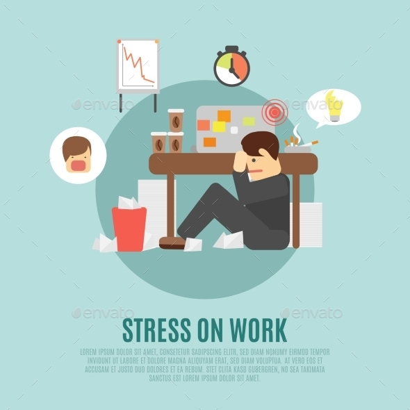 Stress on Work - Business Conceptual