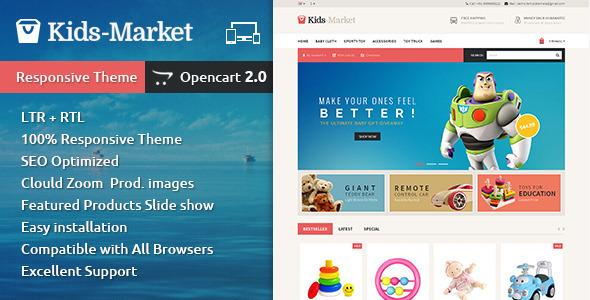Kids Market – Opencart Responsive Theme