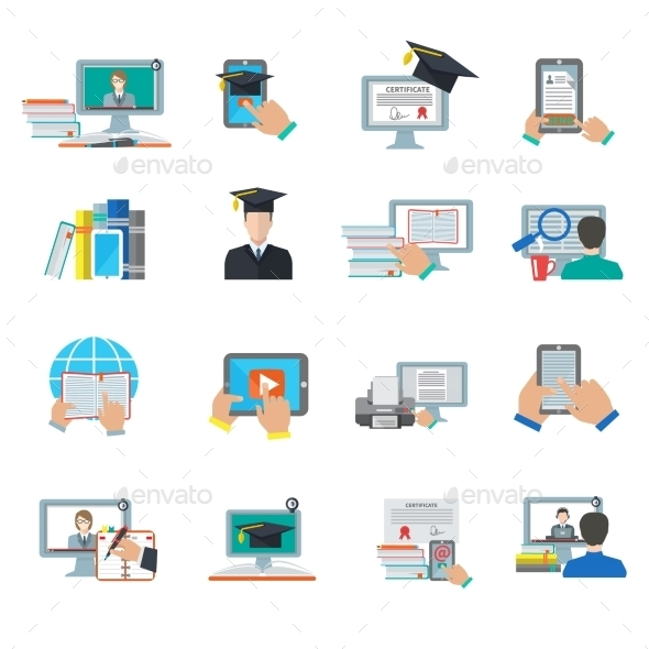 Online Education Flat Icon - Miscellaneous Icons