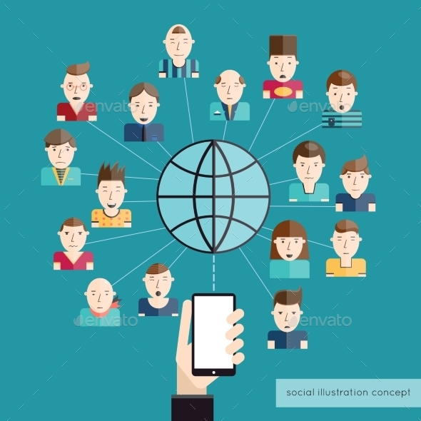 Social Communication Concept - Communications Technology