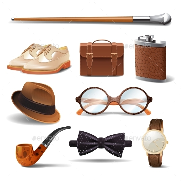 Gentleman Realistic Set - Man-made Objects Objects
